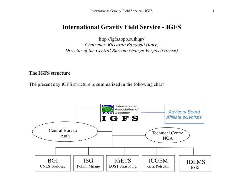 IGFS Report to the 2015-2017 IAG Reports Vol. 40 (Travaux de l'Association Internationale de Géodésie)